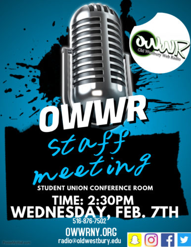 First OWWR Meeting of the Spring:  All Are Welcome!